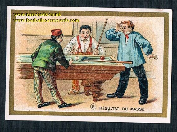 1910s billiards snooker pool trade card Chauvet France